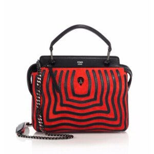 Fendi - Dotcom Striped Leather Satchel - saks.com