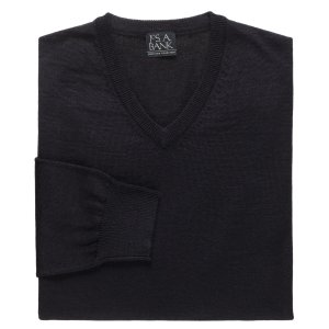 Executive Merino Blend V-Neck Sweater CLEARANCE - All Clearance | Jos A Bank