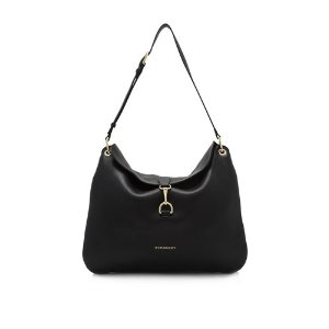 Burberry Derby Leather House Check Medium Cornwall Hobo