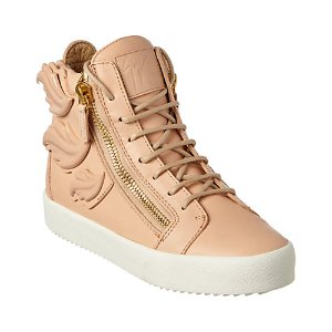 Giuseppe Zanotti Leather High Top Wedge Sneaker