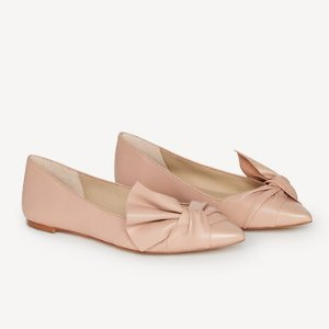 Eula Leather Bow Flats | Ann Taylor