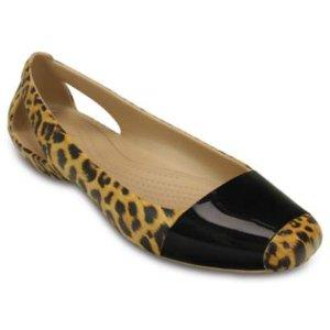 Women's Crocs Sienna Leopard Shiny Flat | Women's Flats | Crocs Official Site