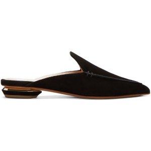 Nicholas Kirkwood: Black Beya Slip-On Loafers