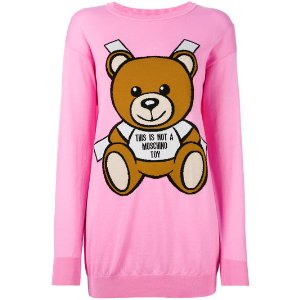 toy bear paper cut out sweater dress