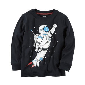 Kid Boy Long-Sleeve Astronaut Graphic Tee | Carters.com
