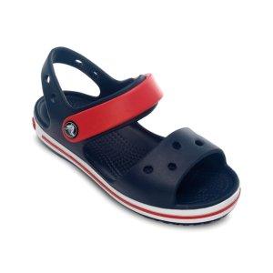 Navy & Red Crocband Sandal - Toddler & Kids