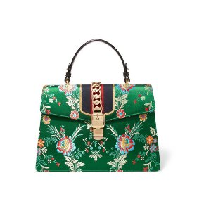 Gucci | Sylvie large chain-embellished jacquard and leather tote