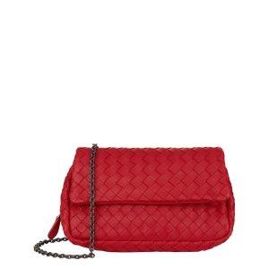 Bottega Veneta Mini Intrecciato Chain Crossbody Bag