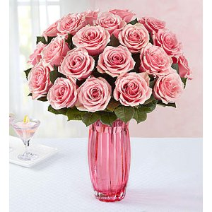 Pretty in Pink Rose Bouquet, 12-24 Stems | 1-800-Flowers.com - 104907