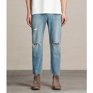 ALLSAINTS US: Mens Danvers Sid Jeans (Indigo Blue)