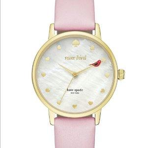 Lowest price $72.99 (Orig $195)kate spade new york Leather Strap Metro Bird Watch