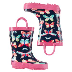 Toddler Girl Carter's Butterfly Rain Boots | Carters.com