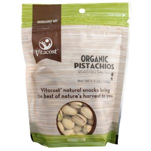 Vitacost Organic Roasted Salted Pistachios -- 5.5 oz (156 g)