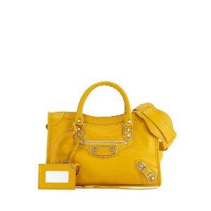 Balenciaga Edge City Small Tote Bag, Yellow
