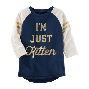 Mix Kit Raglan Sparkle Kitten Tunic