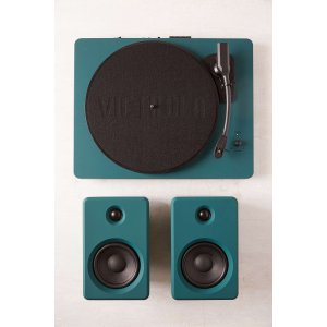 EP-33 Bluetooth Turntable With Speakers - Dark Green | Urban Outfitters