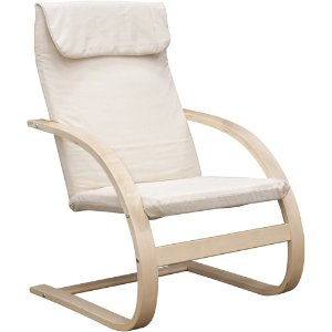 Mia Birch Bentwood Lounge Chair