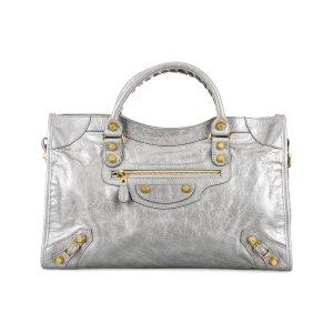 Balenciaga Silver Gold City Satchel | zulily