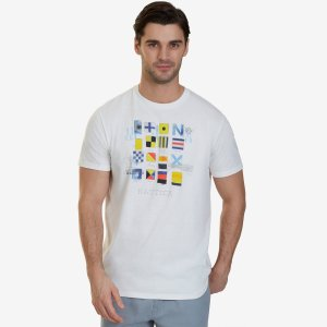Signal Flags Graphic T-Shirt - Marshmallow | Nautica