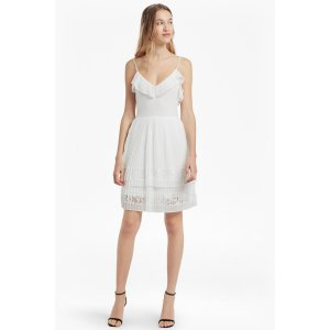 Adanna Pleat Lace Jersey Dress | Sale | French Connection Usa