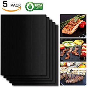 Amazon.com: SHINE HAI Grill Mat Set of 5, 100% Non-Stick BBQ Grill & Baking Mats, FDA-Approved, PFOA Free, Reusable and Easy to Clean, BBQ Accessories for Gas, Charcoal, Electric Grill and More- 15.75 x 13 Inch: Patio, Lawn & Garden