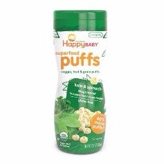 $11.26 Happy Baby Organic Superfood Puffs, Kale & Spinach, 2.1 Ounce (Pack of 6)