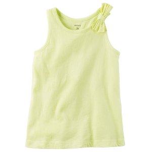 Kid Girl Garment-Dyed Bow Tank | Carters.com