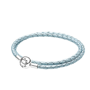 Rue La La — PANDORA Silver & Leather Wrap Bracelet
