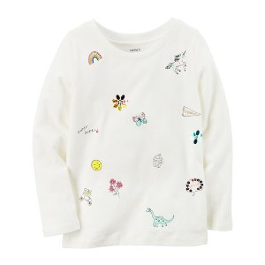 Glitter Doodle Graphic Tee