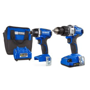 Shop Kobalt 24-Volt Max Lithium Ion (Li-ion) Brushless Motor Cordless Combo Kit with Soft Case at Lowes.com