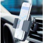 F-color Car Phone Holder, F-color One Press Install Air Vent Car Phone Mount Quick Release Car Mount Holder 3 Side Grips Car Cradle for iPhone 7 7Plus 6s 6 Plus, Samsung, Google Pixel, Nexus, HTC, GPS, Black