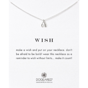 Wish Wishbone Necklace, Sterling Silver | Dogeared