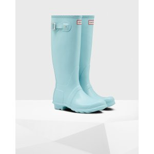 Womens Blue Tall Rain Boots | Official US Hunter Boots Store