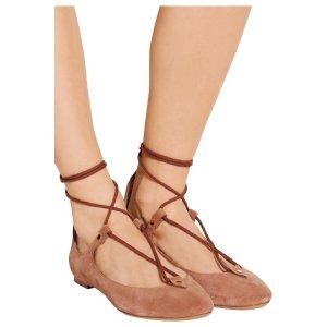 Lace-up suede ballet flats | Chloé