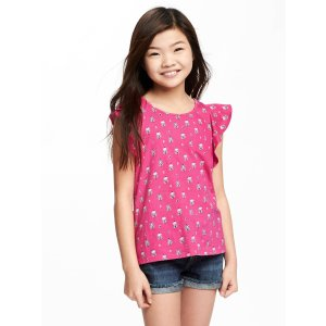 Ruffle-Trim Scoop-Neck Tank for Girls | Old Navy