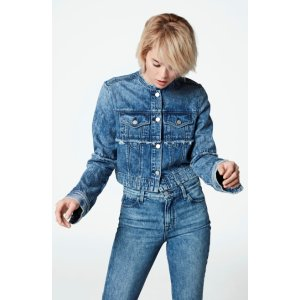 Mai Cropped Jacket In Satellite