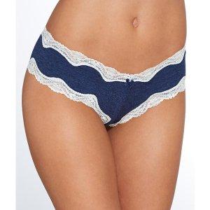 St. Eve Lace Trim Cotton Hipster Panty 516402 at BareNecessities.com