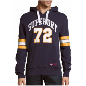 Superdry - Tri League Football Michigan Cotton-Blend Hoodie - saksoff5th.com