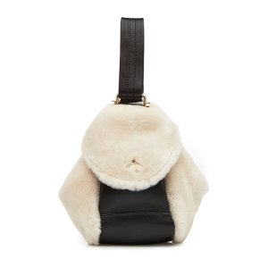 Micro Fernweh Shearling Tote with Leather