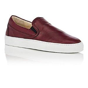 Barneys New York Leather Slip-On Sneakers | Barneys Warehouse