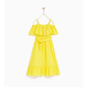 EMBROIDERED DRESS WITH FRILL - DRESSES-GIRL | 4-14 years-KIDS-SALE | ZARA United States