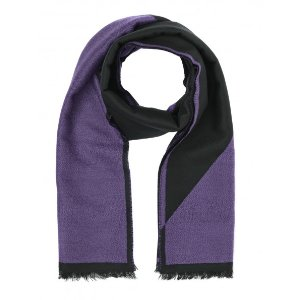 Versace Collection 100% Wool Scarf - Purple