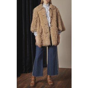 Long Sleeve Striped Blouse With Ruffle Detail | Moda Operandi