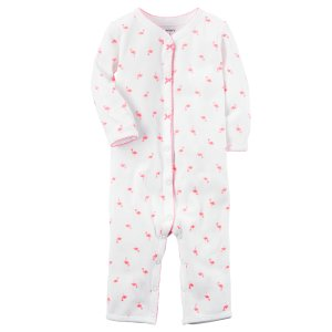 Baby Girl Cotton Snap-Up Footless Sleep & Play | Carters.com
