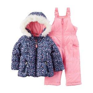 Floral Snowsuit Set
