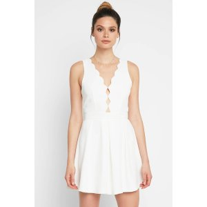 Adelyn Rae Serena Scallop A-Line Dress   South Moon Under