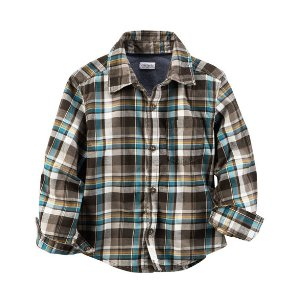 Toddler Boy Plaid Button-Front Shirt | Carters.com