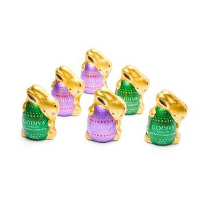 Assorted Chocolate Bunnies, Foil Wrapped, Set of 6   GODIVA
