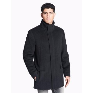 herringbone wool blend coat | Calvin Klein