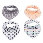 Corewill Baby Bandana Drool Bibs Absorbent Organic Cotton Gift Set with Snaps(4 Packs)